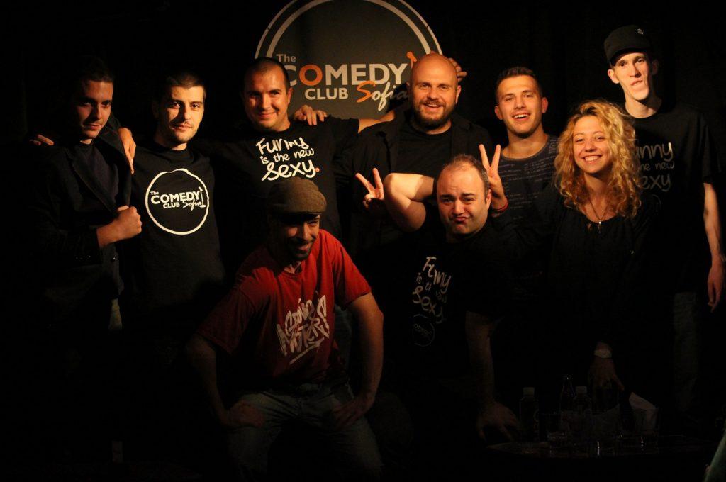 stand up comedy show с комедиантите на Комеди Клуба.