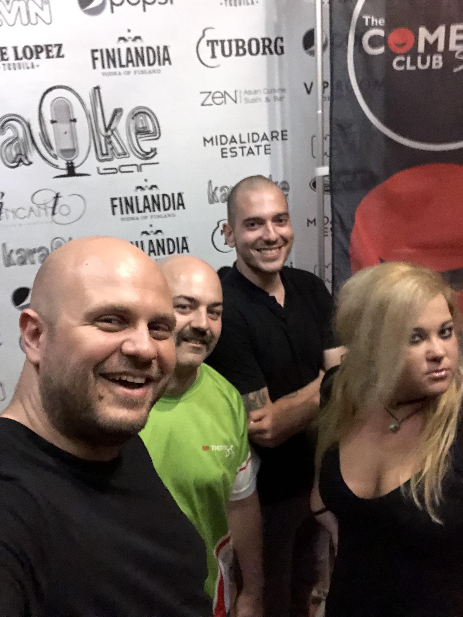 Николаос Цитиридис, Ники Банков, Иван Кирков и Петя Кюпова на Фестивал на Комедията Бургас 2019.